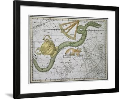 """Hydra, from """"A Celestial Atlas,"""" Published in 1822-A^ Jamieson-Framed Giclee Print"""