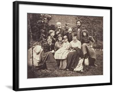 William Morris Sir Edward Burne-Jones and Their Families, 1874-Frederick Hollyer-Framed Giclee Print