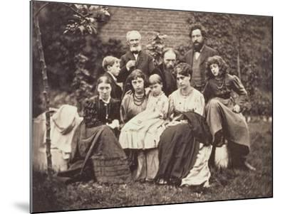 William Morris Sir Edward Burne-Jones and Their Families, 1874-Frederick Hollyer-Mounted Giclee Print