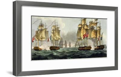 Capture of La Pomone, L'Engageante and La Babet, April 23rd 1794-Thomas Whitcombe-Framed Giclee Print