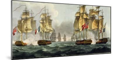 Capture of La Pomone, L'Engageante and La Babet, April 23rd 1794-Thomas Whitcombe-Mounted Giclee Print