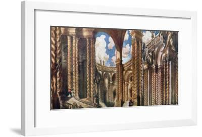 Scenery Design for the Betrothal, from Sleeping Beauty, 1921-Leon Bakst-Framed Giclee Print
