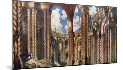 Scenery Design for the Betrothal, from Sleeping Beauty, 1921-Leon Bakst-Mounted Giclee Print