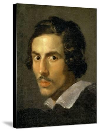 Self Portrait of the Artist in Middle Age-Giovanni Lorenzo Bernini-Stretched Canvas Print