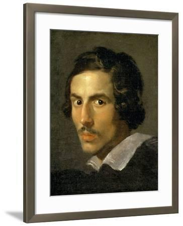 Self Portrait of the Artist in Middle Age-Giovanni Lorenzo Bernini-Framed Giclee Print