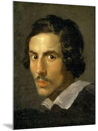 Self Portrait of the Artist in Middle Age-Giovanni Lorenzo Bernini-Mounted Giclee Print