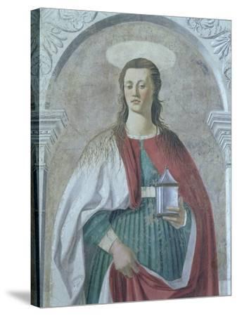 St. Mary Magdalene, 1466 (Detail)-Piero della Francesca-Stretched Canvas Print