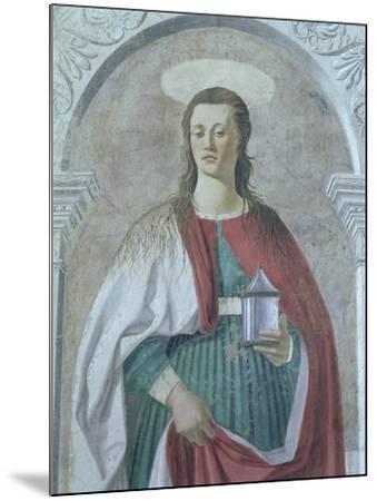 St. Mary Magdalene, 1466 (Detail)-Piero della Francesca-Mounted Giclee Print