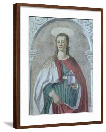 St. Mary Magdalene, 1466 (Detail)-Piero della Francesca-Framed Giclee Print