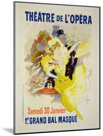 """Reproduction of a Poster Advertising the First """"Grand Bal Masque,"""" Theatre De L'Opera, Paris, 1896-Jules Ch?ret-Mounted Giclee Print"""