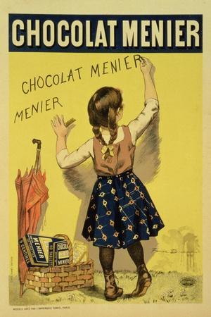"""Reproduction of a Poster Advertising """"Menier"""" Chocolate, 1893-Firmin Etienne Bouisset-Stretched Canvas Print"""