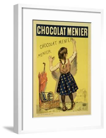 """Reproduction of a Poster Advertising """"Menier"""" Chocolate, 1893-Firmin Etienne Bouisset-Framed Giclee Print"""