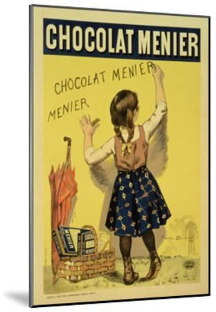 """Reproduction of a Poster Advertising """"Menier"""" Chocolate, 1893-Firmin Etienne Bouisset-Mounted Giclee Print"""