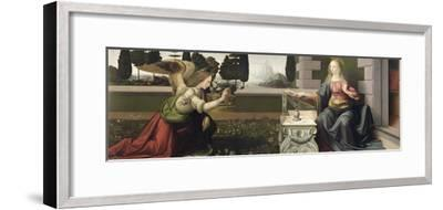 Annunciation, 1472-75-Leonardo da Vinci-Framed Premium Giclee Print
