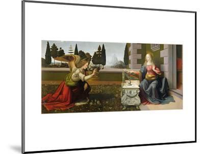 Annunciation, 1472-75-Leonardo da Vinci-Mounted Premium Giclee Print