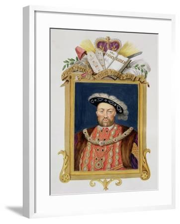 """Portrait of Henry VIII as Defender of the Faith from """"Memoirs of the Court of Queen Elizabeth""""-Sarah Countess Of Essex-Framed Giclee Print"""