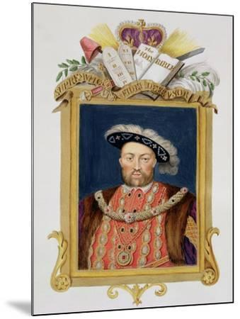"""Portrait of Henry VIII as Defender of the Faith from """"Memoirs of the Court of Queen Elizabeth""""-Sarah Countess Of Essex-Mounted Giclee Print"""