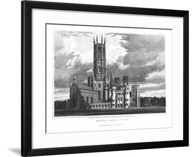 "Fonthill Abbey from the South-West, from ""Graphic and Literary Illustrations of Fonthill Abbey""-George Cattermole-Framed Giclee Print"