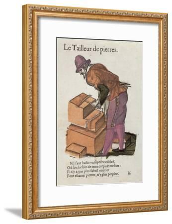The Stone-Cutter-Jean Leclerc-Framed Giclee Print