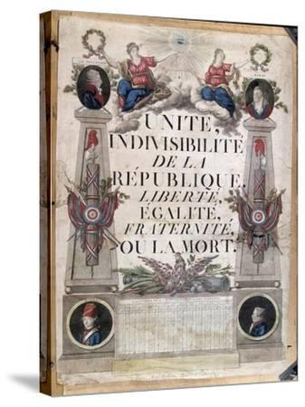 Republican Calendar, 1794--Stretched Canvas Print