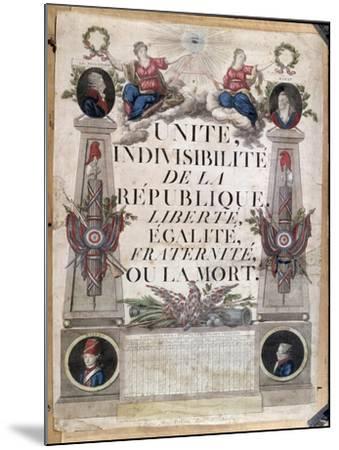 Republican Calendar, 1794--Mounted Giclee Print