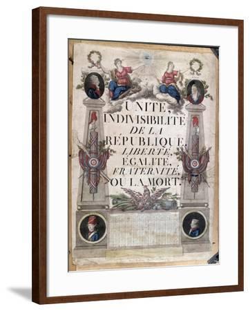 Republican Calendar, 1794--Framed Giclee Print