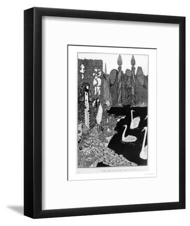 """The New One is the Most Beautiful of All, Illustration for """"The Ugly Duckling""""-Harry Clarke-Framed Premium Giclee Print"""