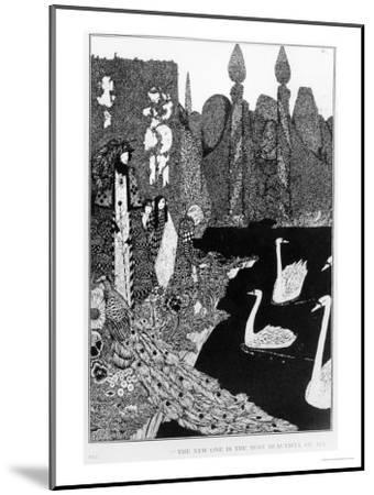 "The New One is the Most Beautiful of All, Illustration for ""The Ugly Duckling""-Harry Clarke-Mounted Giclee Print"