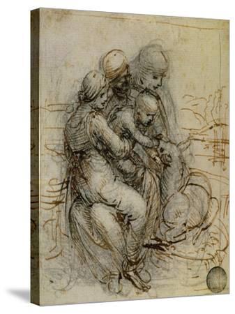 Virgin and Child with St. Anne-Leonardo da Vinci-Stretched Canvas Print