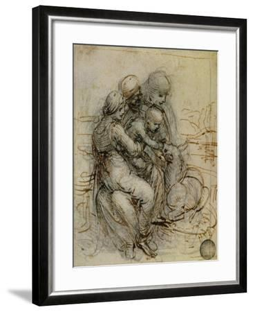 Virgin and Child with St. Anne-Leonardo da Vinci-Framed Giclee Print