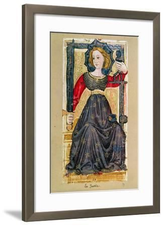 """Justice, Tarot Card from the """"Charles Vi"""" or """"Gringonneur"""" Deck--Framed Giclee Print"""