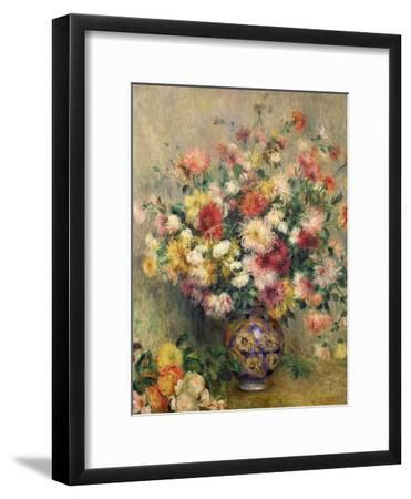 Dahlias-Pierre-Auguste Renoir-Framed Giclee Print