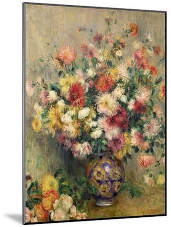 Dahlias-Pierre-Auguste Renoir-Mounted Giclee Print