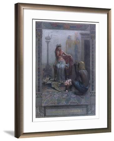"""Cleopatra, Scene from """"Anthony and Cleopatra"""" by By William Shakespeare-Christian August Printz-Framed Giclee Print"""