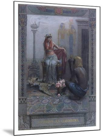 """Cleopatra, Scene from """"Anthony and Cleopatra"""" by By William Shakespeare-Christian August Printz-Mounted Giclee Print"""
