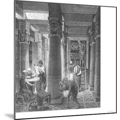 Imaginary Recreation of Ptolemy Library in Alexandria, Egypt, from Histoire Generale Des Peuples--Mounted Giclee Print