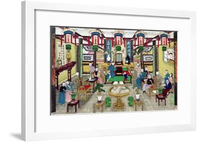 A Room in the House of Mr. Kong, a Peking Merchant-Chinese School-Framed Giclee Print