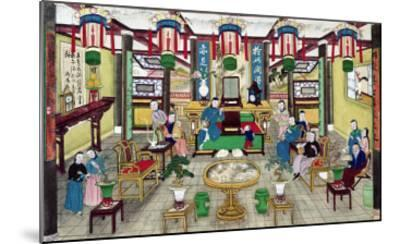 A Room in the House of Mr. Kong, a Peking Merchant-Chinese School-Mounted Giclee Print