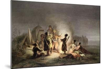 Round the Camp Fire-H. Kretzschmer-Mounted Giclee Print