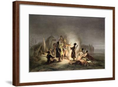 Round the Camp Fire-H. Kretzschmer-Framed Giclee Print