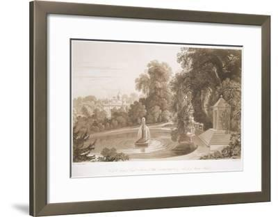 View of the Temple of Suryah and the Fountain of Mahah Doo-John Martin-Framed Giclee Print