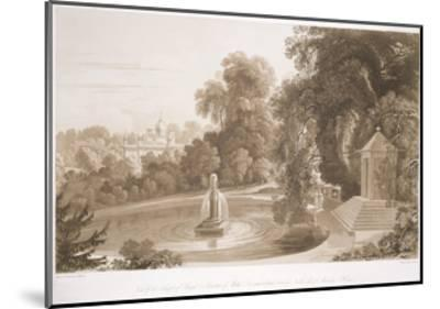 View of the Temple of Suryah and the Fountain of Mahah Doo-John Martin-Mounted Giclee Print