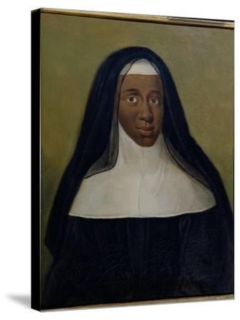 Portrait of Louise-Marie-Therese the Black Nun of Moret--Stretched Canvas Print