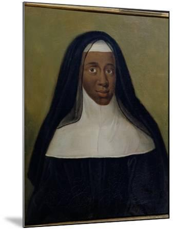 Portrait of Louise-Marie-Therese the Black Nun of Moret--Mounted Giclee Print