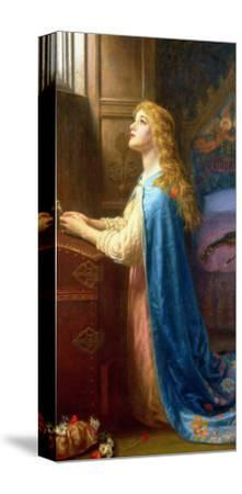 Forget Me Not-Arthur Hughes-Stretched Canvas Print