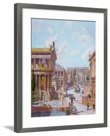 The Roman Forum of Antiquity, 1914-Theodor Josef Hubert Hoffbauer-Framed Giclee Print