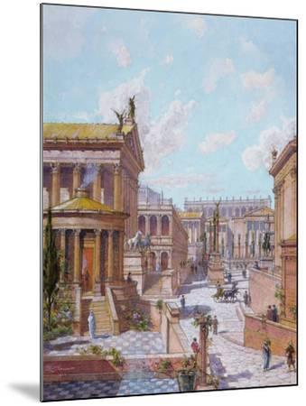 The Roman Forum of Antiquity, 1914-Theodor Josef Hubert Hoffbauer-Mounted Giclee Print