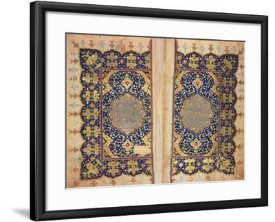 Illuminated Pages of a Koran Manuscript, Il-Khanid Mameluke School--Framed Giclee Print