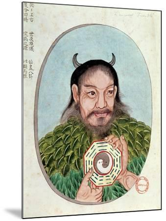 "The Legendary Emperor Fu-Hsi, Illustration from a ""Pen Tsao,"" 18th-19th Century--Mounted Giclee Print"