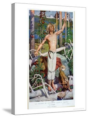 "The Anger of Kallervo, from ""Kalevala""-Akseli Valdemar Gallen-kallela-Stretched Canvas Print"